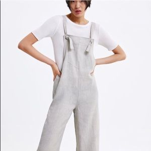 NWT Zara Pocket Jumpsuit With wide straps